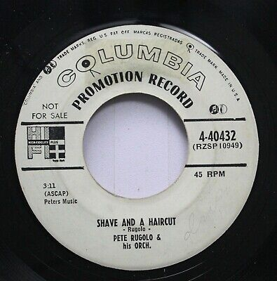 50'S & 60'S Promo 45 Pete Rugolo & His Orch. - Shave And A Haircut / Latin Noctu