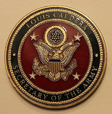 d2d3fd655ec Secretary of the Army Louis Caldera Army Challenge Coin
