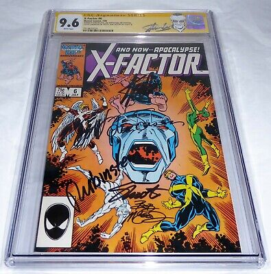 X-Factor #6 CGC SS Signature Autograph STAN LEE 1st Full Apocalypse Frenzy 9.6