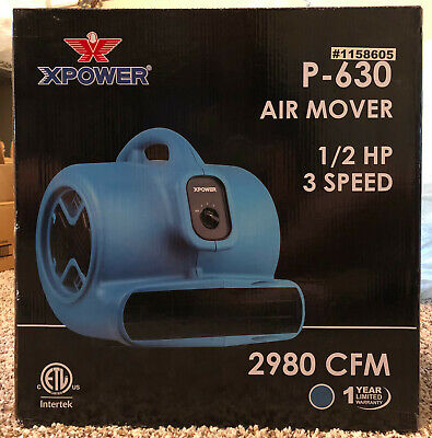 Xpower P-630 12 Hp 2980 Cfm 3 Speed Air Mover Carpet Dryer Floor Fan Blower