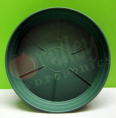 """Hydrofarm 6"""" 8"""" 10"""" 12"""" inch GREEN PREMIUM SAUCER Round Sturdy Garden Pot Tray"""