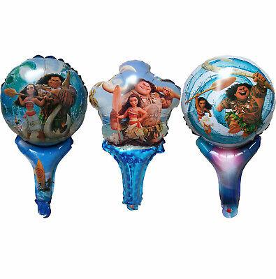 MOANA MAUI AIR FILL BALLOON BIRTHDAY PARTY SUPPLIES LOLLY BAG FILLER GIFT FAVOR - Lollipop Balloons