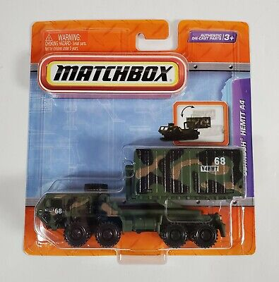 MATCHBOX OSHKOSH HEMTT A4 ARMY MILITARY REAL WORKING PARTS GREEN CAMO MOSC 2010