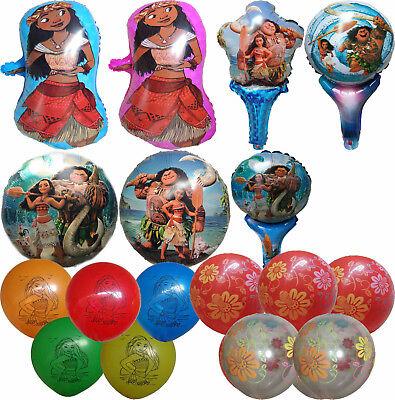 MOANA MAUI BALLOON TROPICAL BIRTHDAY PARTY SUPPLIES LOLLY GIFT BAG FILLER GIFT  - Lollipop Balloons