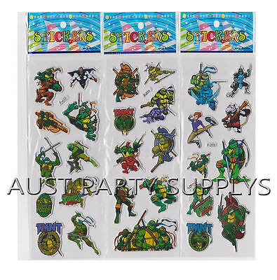 TEENAGE MUTANT NINJA TURTLE PUFFY STICKER PARTY LOOT LOLLY BAG FILLER FAVOR GIFT