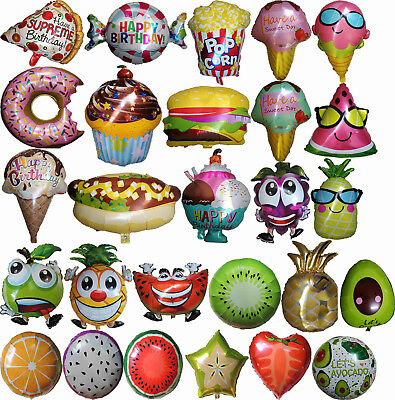 Fruits Veges Ice Cream Pizza Donuts Burger Cupcake Balloon Birthday Party - Ice Cream Birthday Party