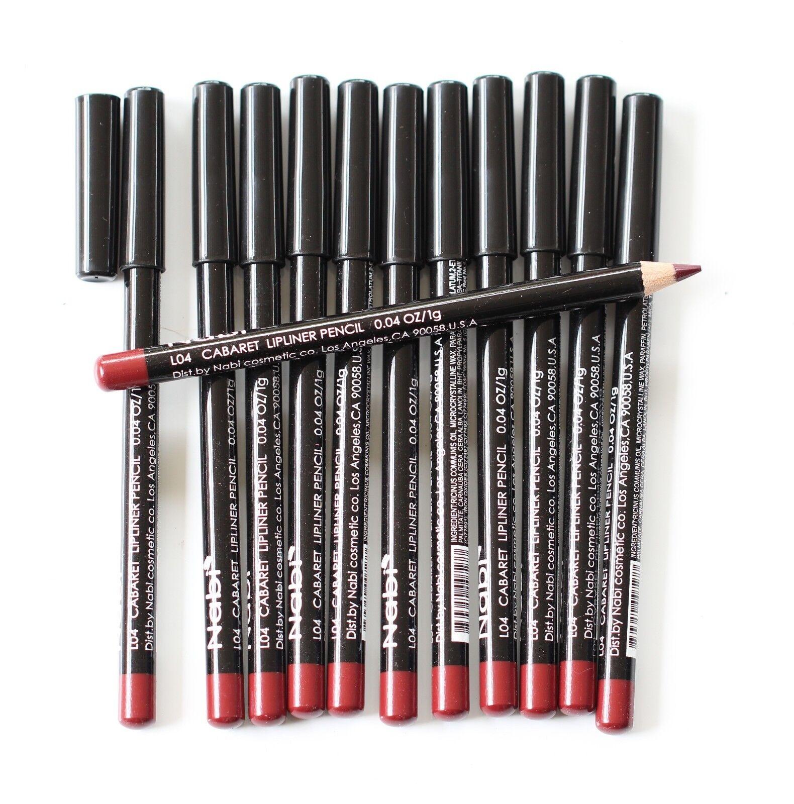 12 pcs NABI L04 CABARET Lip Liner Lipliner Pencil