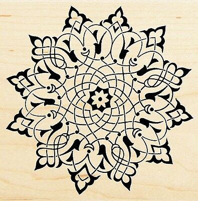 Arabesque Design Pattern, Wood Mounted Rubber Stamp STAMPENDOUS - New, (Arabesque Wood)