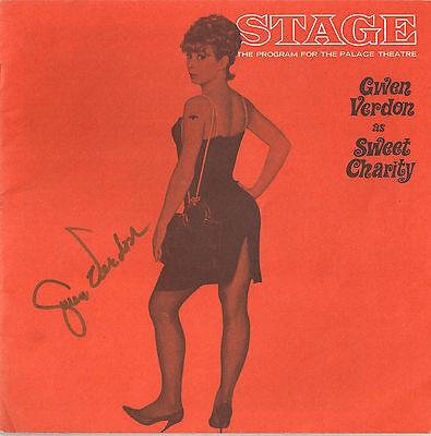 "Gwen Verdon (Signed) ""SWEET CHARITY"" John McMartin / Bob Fosse 1966 Program"