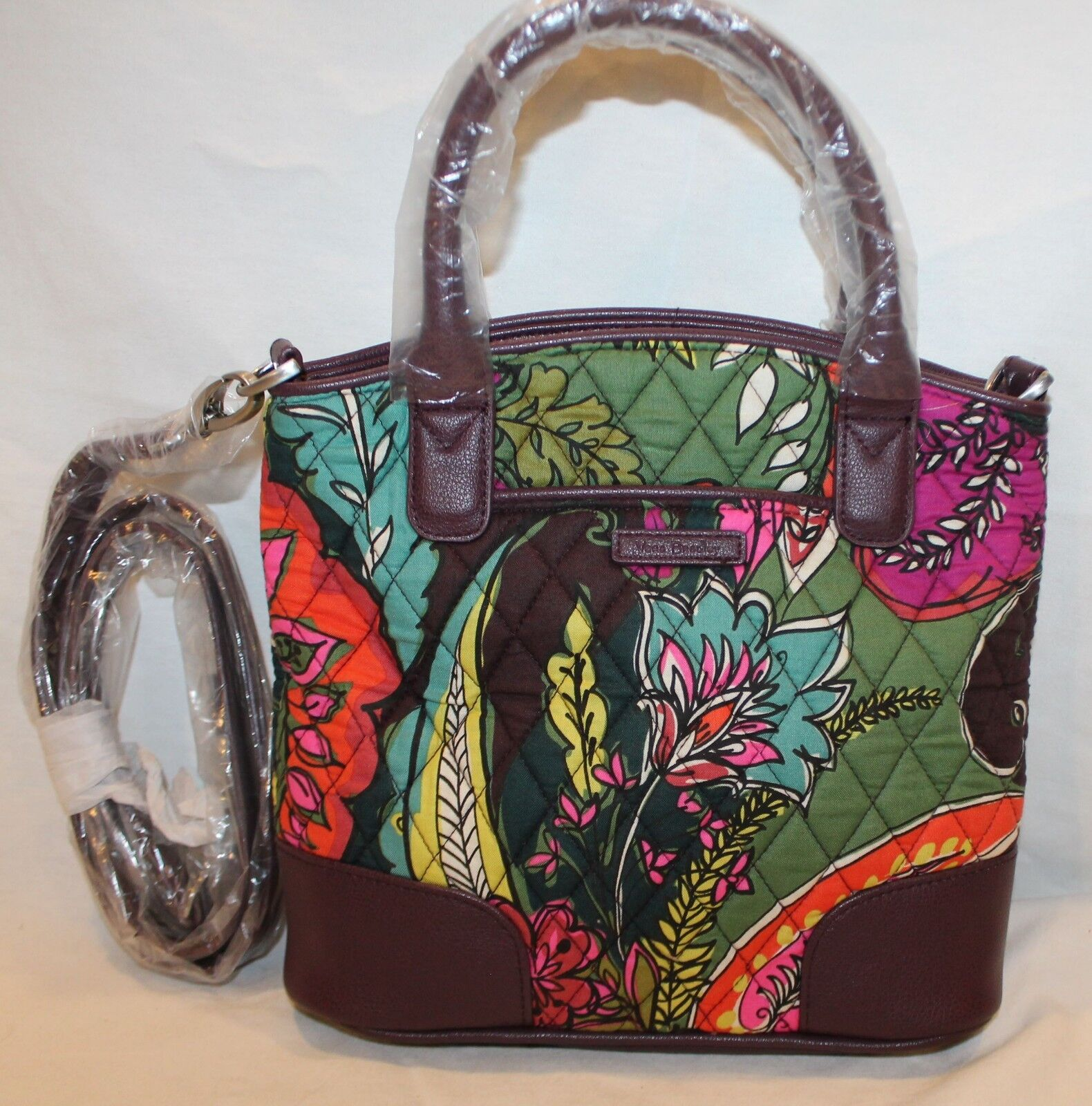 VERA BRADLEY DAY OFF SMALL SATCHEL CROSSBODY HANDBAG MULTIPL