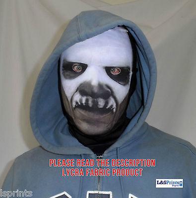 Scary Halloween-gesicht (Scary Halloween Gesicht Maske Voodoo Vorderseite witziges Design Stoff Kostüm)