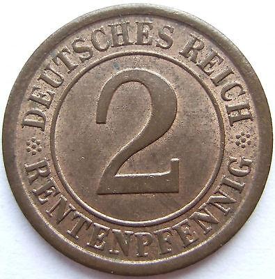 TOP! 2 RENTENPFENNIG 1924 A in STEMPELGLANZ !!!