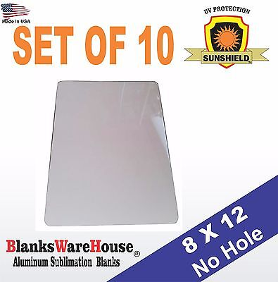 10 Pieces Parking Sign Aluminum Sublimation Blanks 8 X 12 No Holes