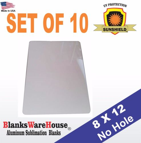 "10 Pieces PARKING SIGN  ALUMINUM  SUBLIMATION BLANKS 8"" x 12"" / NO HOLES"
