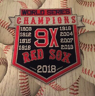 Boston Red Sox 9X World Series Champions Patch 4