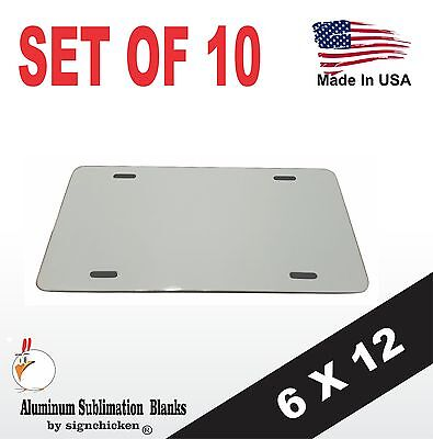 10 Pieces Aluminum License Plate Sublimation Blanks 6x12 New Best Quality