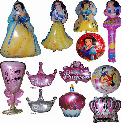 PRINCESS SNOW WHITE & SEVEN DWARFS BALLOON GIRL THEME PARTY SUPPLIES GIFT DECOR - Snow Theme Decorations