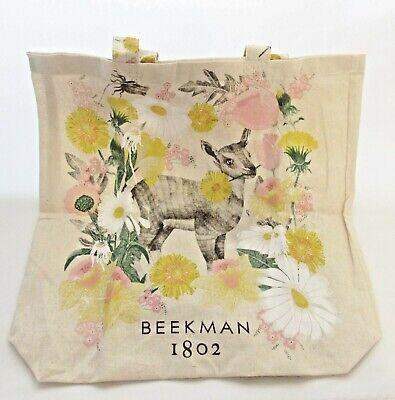 Beekman 1802 Lightweight Canvas Goat Tote Bag New