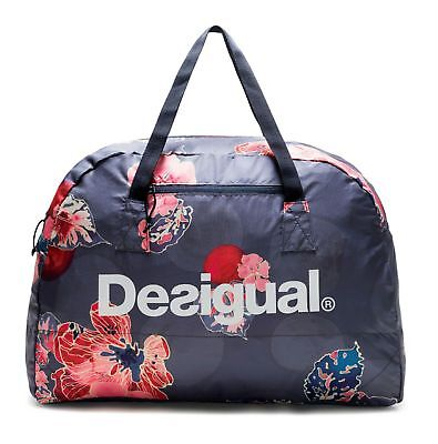 Desigual Scarlet Bloom Packable Gym Bag Peacoat 839ef23382ff3