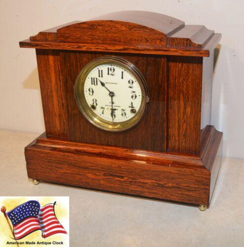 RESTORED & RARE SETH THOMAS 4 BELL SONORA NO. 1 - 1910 ANTIQUE CHIME CLOCK