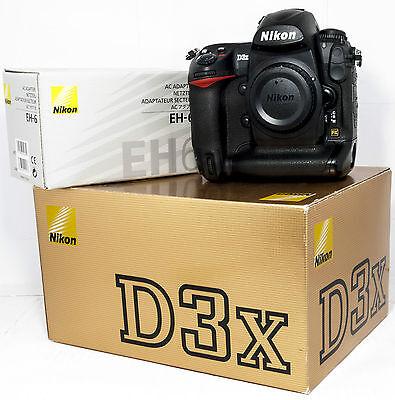 Nikon D3X 24.5 MP Digital SLR Camera with AC Adapter EH-6, 2 EN-EL4 Battery Kit