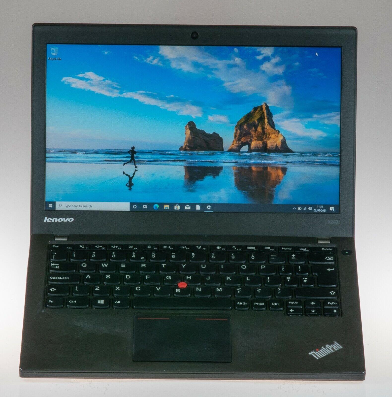 Laptop Windows - Lenovo ThinkPad X240 i5 Windows 10 professionally refurbished laptop