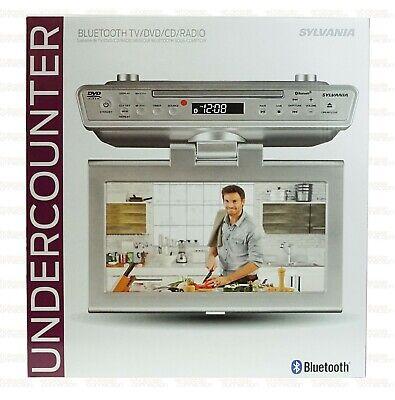 """Sylvania SKCR2706BT 10.2"""" Under Cabinet Kitchen TV w DVD Player, HDMI, Bluetooth"""