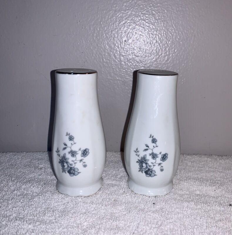 Vintage Johann Haviland Blue Garland Floral Salt & Pepper Shakers