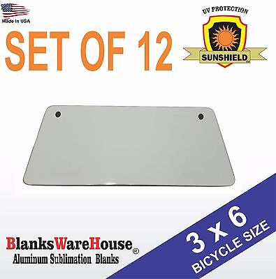 3 X 6 Bicycle License Plate Blanks -dye Sublimation Printing Blanks 12 Piece