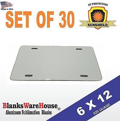 30 Pieces Aluminum License Plate Sublimation Blanks 6x 12 New Best Quality