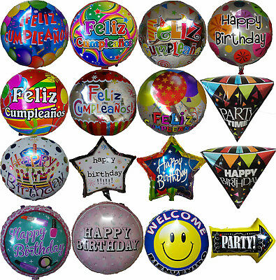Happy Birthday Feliz Cumpleaños Balloon 1st 16th 18th 21st 30th 40 50th - Happy 16th Birthday Balloons