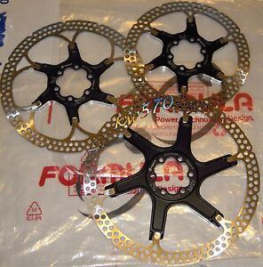 Formula-Disco-orig-2-pezzi-2-piece-rotor-ergal-NERO-BLACK-160-180-203mm-NEW