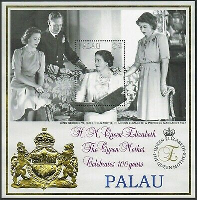Palau 523. MNH. Queen Mother celebrates 100 years. 1999 Portrait. x33359.