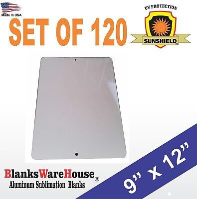 120 Pieces Parking Sign Aluminum Sublimation Blanks 9 X 12 With Holes