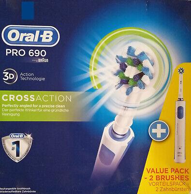 Braun Oral-B PRO 690 Cross Action Elektrische Zahnbürste 2 Handstücke