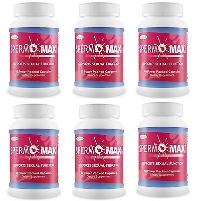 6 Spermomax Volumen Pastillas Masculino Potenciador Aumento Semen 500% Más Sperm