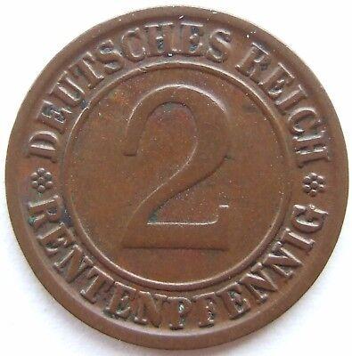 TOP! 2 RENTENPFENNIG 1923 J in SEHR SCHÖN / VORZÜGLICH !!!