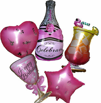 18th Birthday Party Supplies (Pink Wine Bottle Cocktail Balloon 18th 21st 20th 30th Birthday Party)