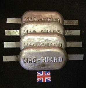 4 x 2.5kg Magnesium anode. Canal, river, narrow boat, barge, yacht, cruiser.