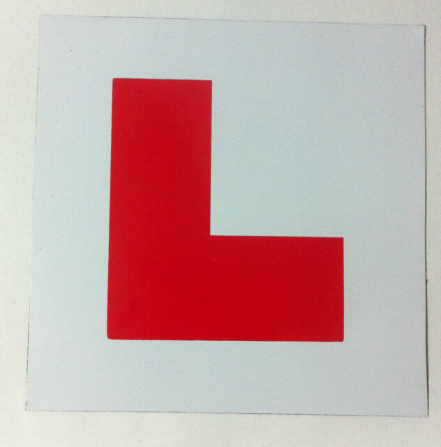 MAGNETIC LEARNER DRIVER1 X L, PLATE FOR CARS AND BIKES, UNBELIEVABLE VALUE