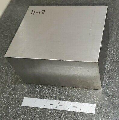 H-13 Tool Steel Flat Stock Machine Shop Die 3.5 X 5.5 X 6.75 H13