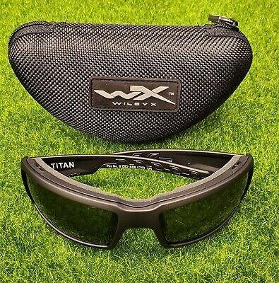 Wiley X WX Titan Men's Sunglasses, Smoke Grey Lens / Matte Black Frame - (Titan Sunglasses)