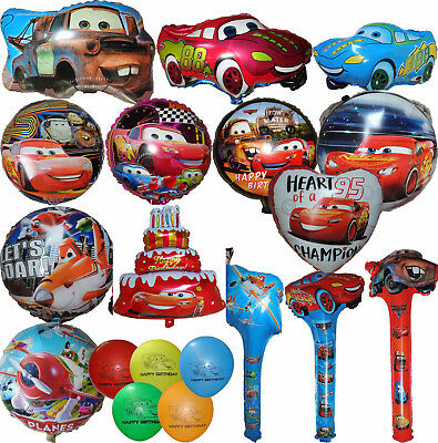 CARS LIGHTNING MCQUEEN & PLANES DUSTY BALLOON BIRTHDAY PARTY DECOR CENTERPIECE  - Lightning Mcqueen Birthday Decorations