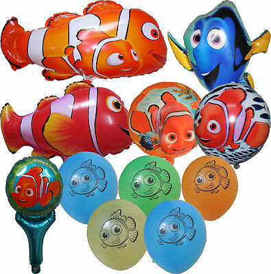 FINDING NEMO CLOWN FISH BALLOON BIRTHDAY PARTY BAG GIFT CENTERPIECE - Finding Nemo Birthday Party Decorations