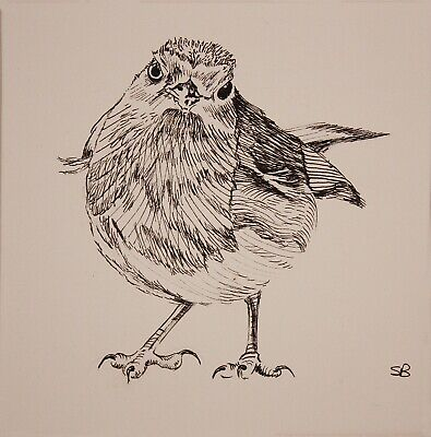 Original Artwork by Sungy Drawing Robin Pen