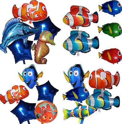 Finding Nemo Party Decorations (FINDING NEMO CLOWN FISH BALLOON BIRTHDAY PARTY BAG GIFT CENTERPIECE)
