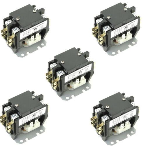 ( 5 ) Pieces YC-CN-PBC402-1 HVAC CONTACTOR 40AMP 2P 24V Coil SA-2P-40A-24V