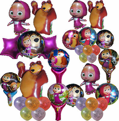 MASHA AND THE BEAR BALLOON BIRTHDAY PARTY BAG GIFT CENTERPIECE DECORATION FAVOR