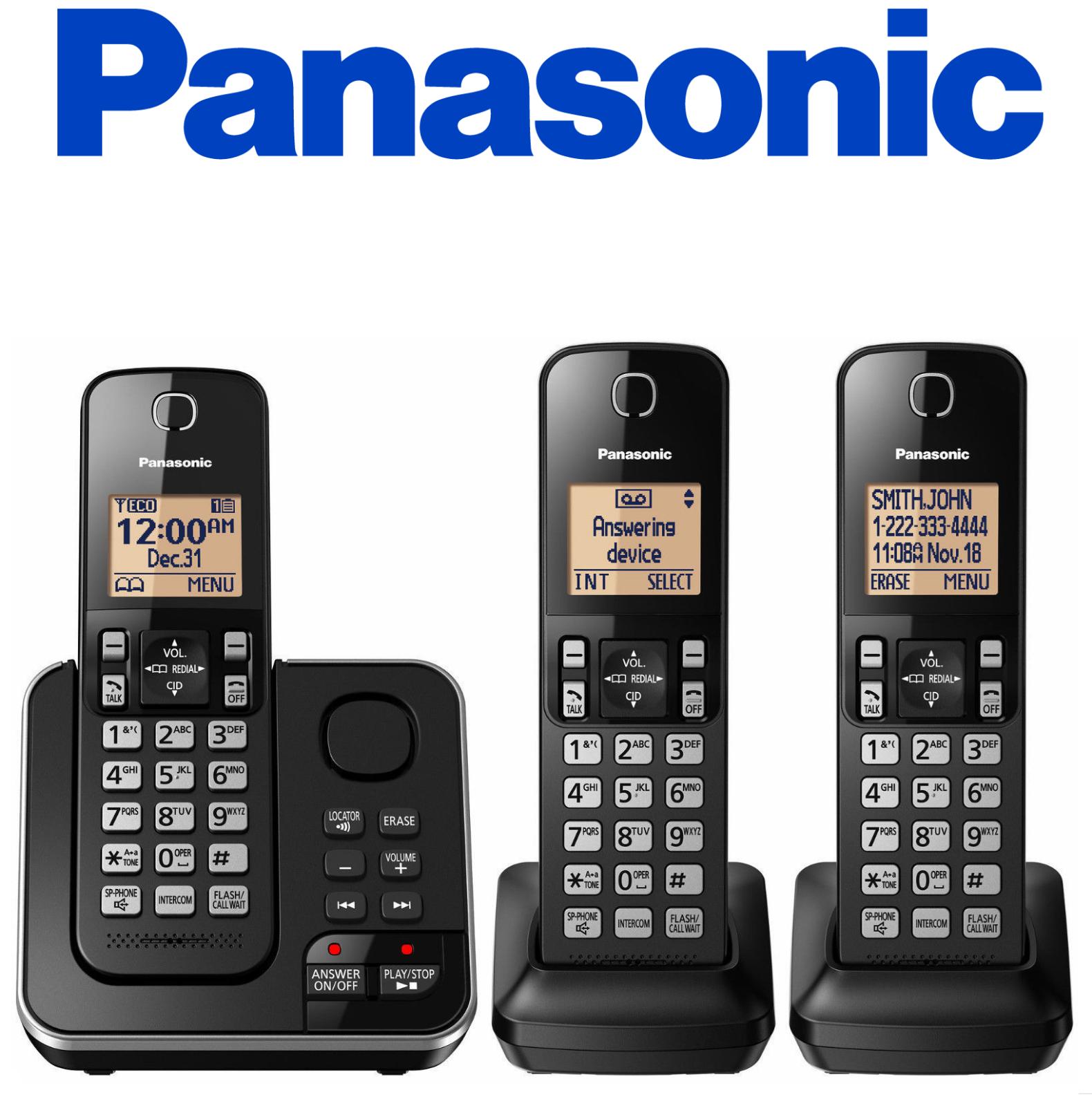 SALE ! Panasonic KX-TG633SK DECT 6.0 PLUS Cordless Phone Answering / KX-TGC363B