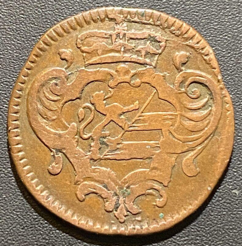 Old Foreign World Coin: 1763-G Italian States Gorizia 1 Soldo